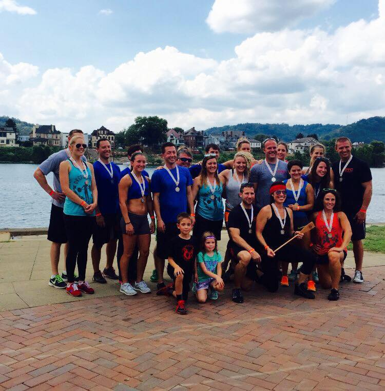 One more quick congratulations to our OV CrossFit Dragon Boat Team who took 1st Place in Wheeling's Inaugural Dragon Boat Race!  Now let's start practicing for next year...