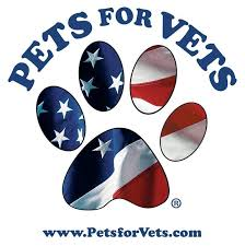 - We will be accepting donations for Pets for Vets. This organization connects our nation's military Veterans with rescued animals. Pets for Vets helps create second chances and new beginnings.You can also help by checking out their website, www.petsforvets.com.