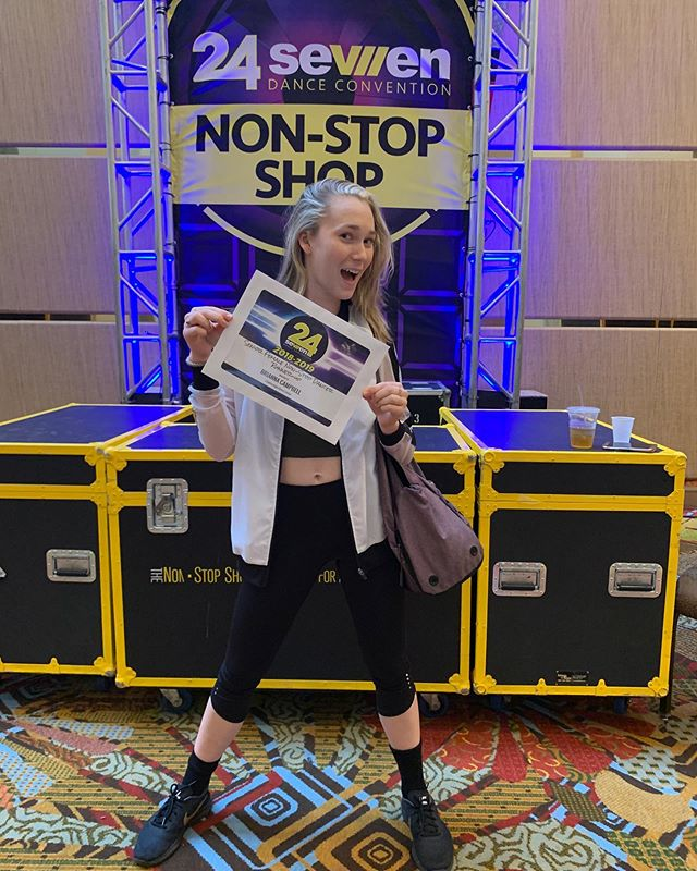 Congrats to our Bri for winning Non Stop Dancer runner-up at @24sevendance Orlando! Our kiddos are putting in work everywhere this week! Always so proud of you kid! #dancecedc