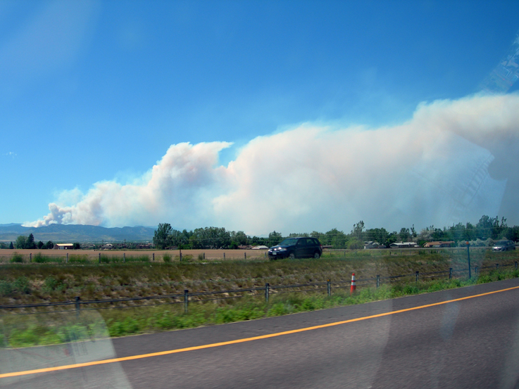 High Park Fire, 6/10/2012 from I-25 North / Fort Collins, CO