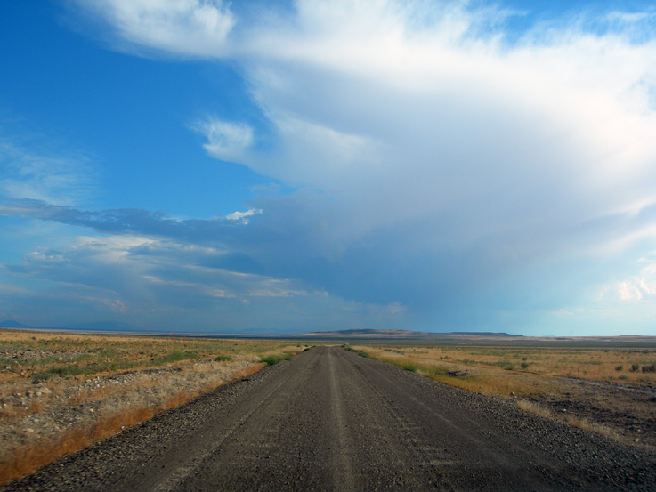 The road to Spiral Jetty