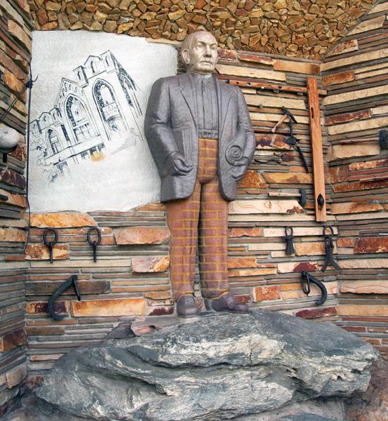 Brick trousers / Gilgal Sculpture Garden, Salt Lake City, Utah