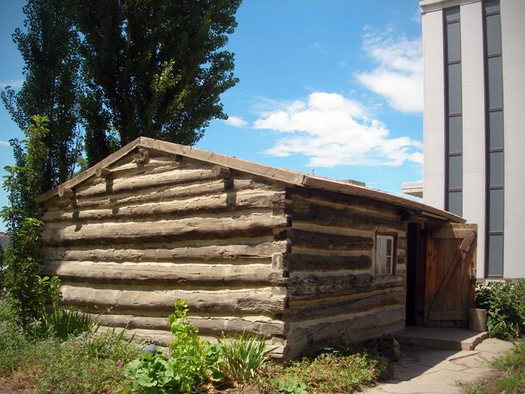 Pioneers' log cabin / Family History Library, Salt Lake City, Utah