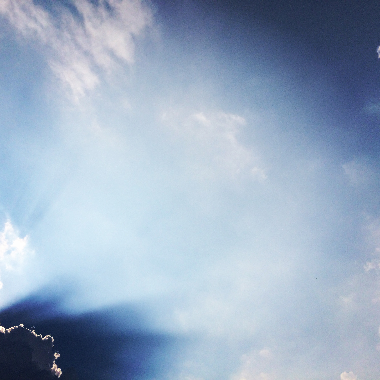 Below the clouds