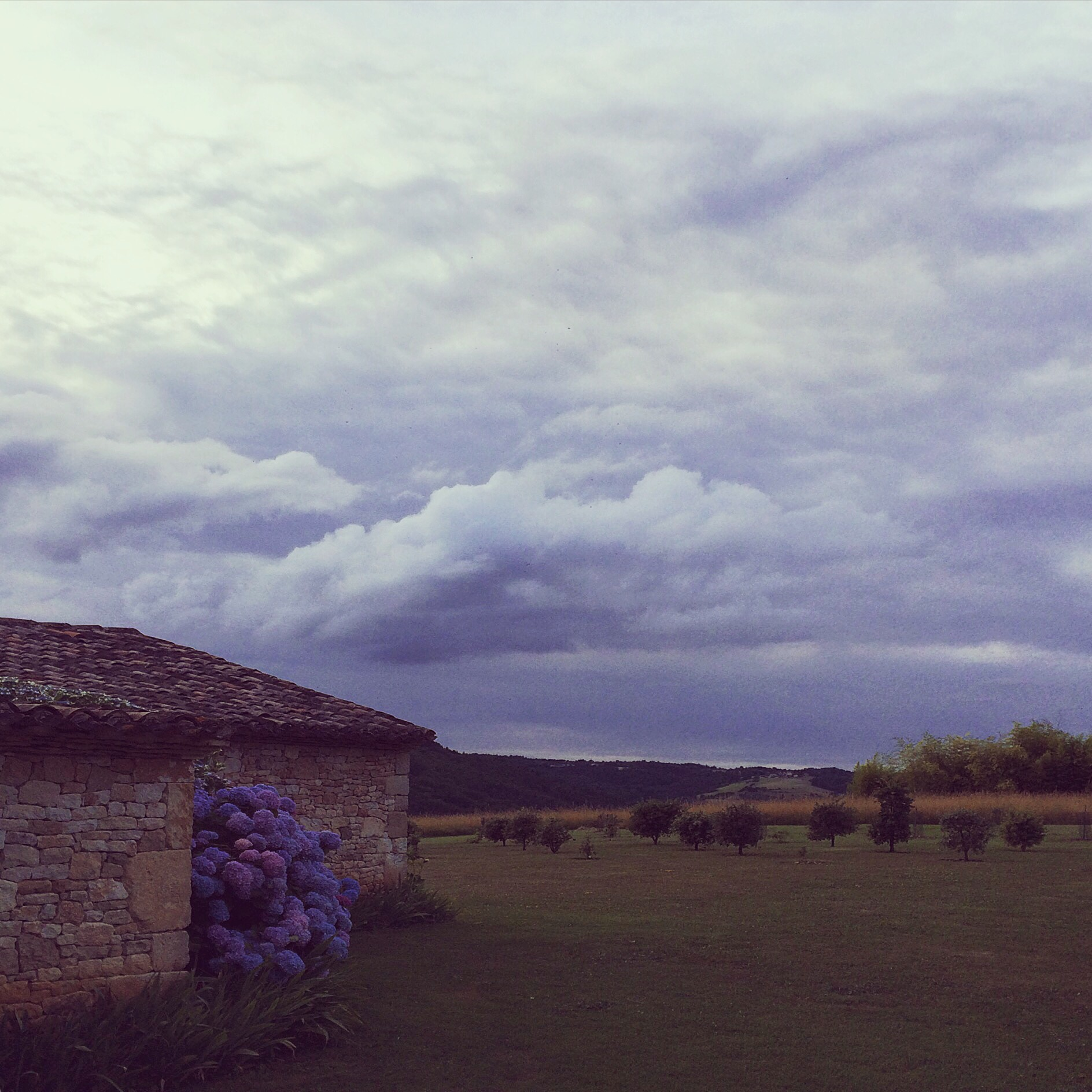 Dusk over the farmhouse / Fleurac, France