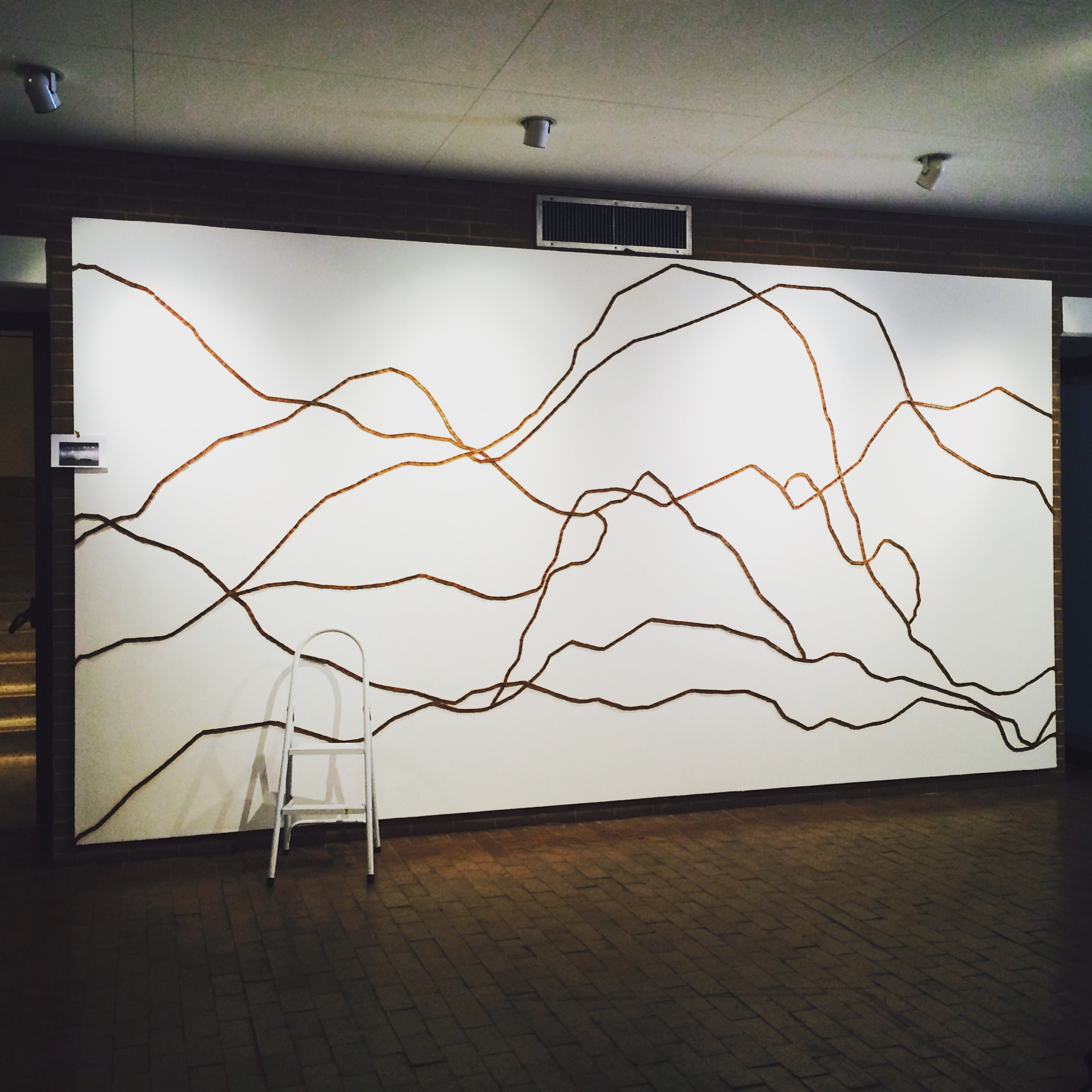 Re-installation of Ripple Effect for the Amarillo Museum of Art