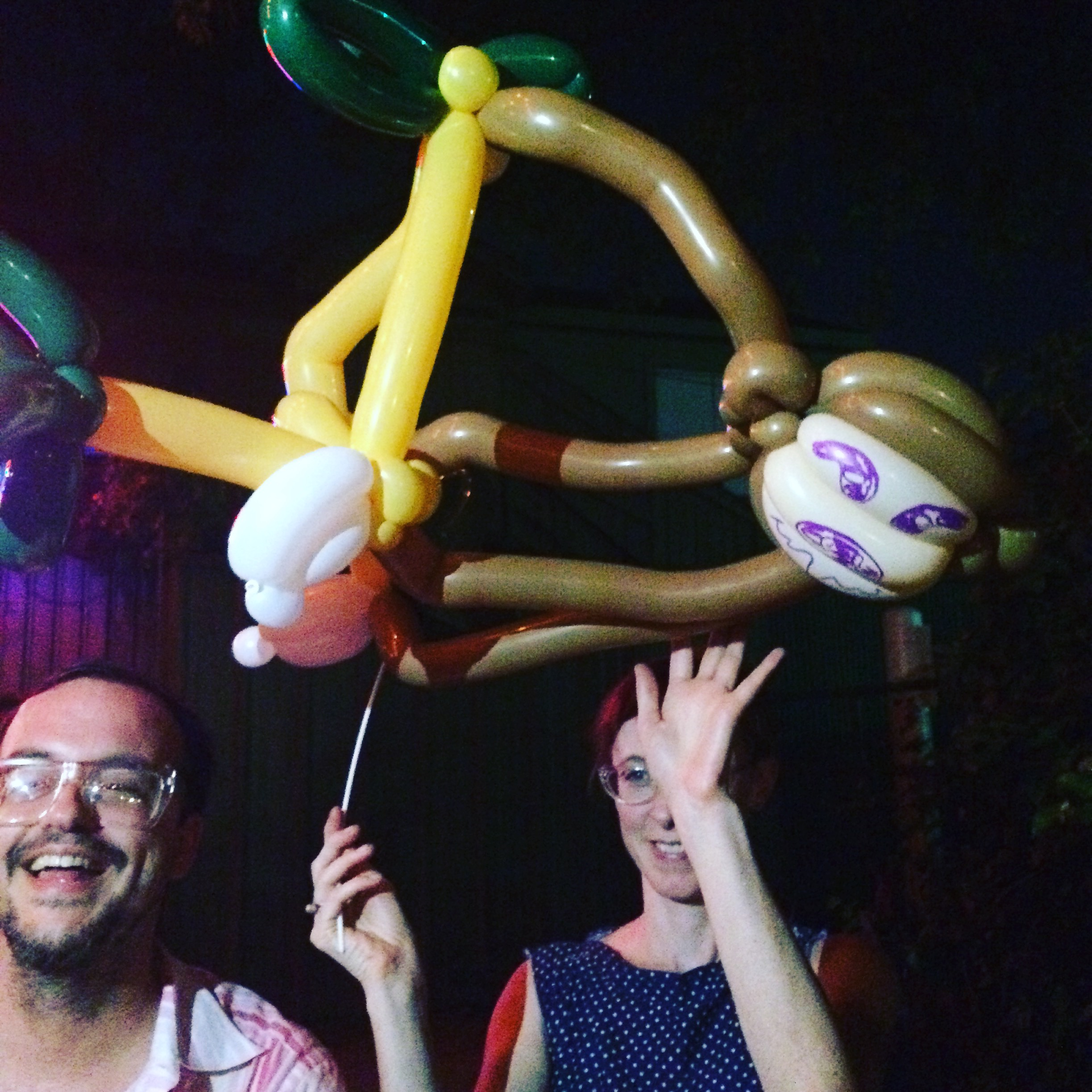 Attempting a sloth balloon animal is harder than it looks