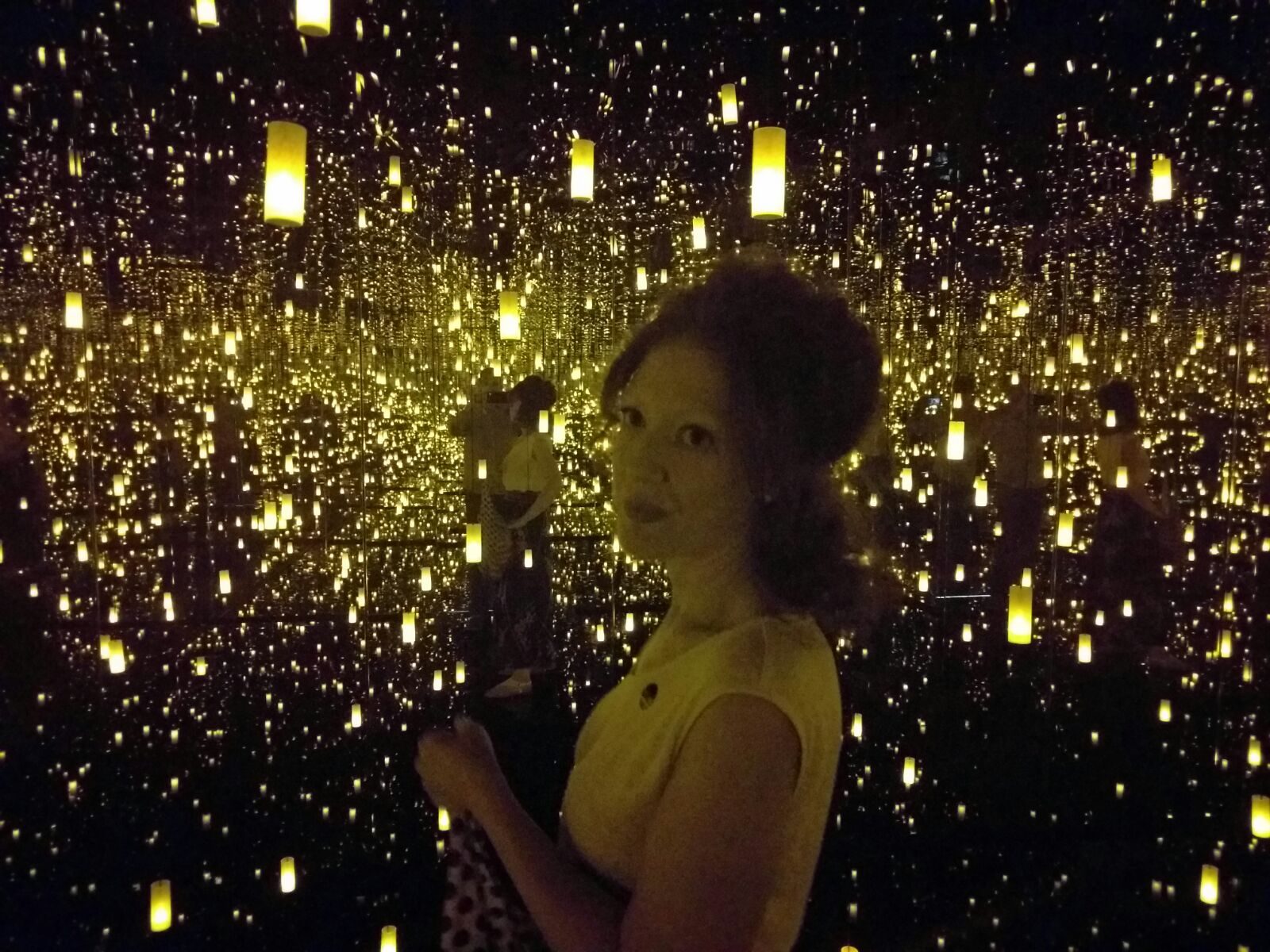 Yayoi Kusama's  At the End of the Universe