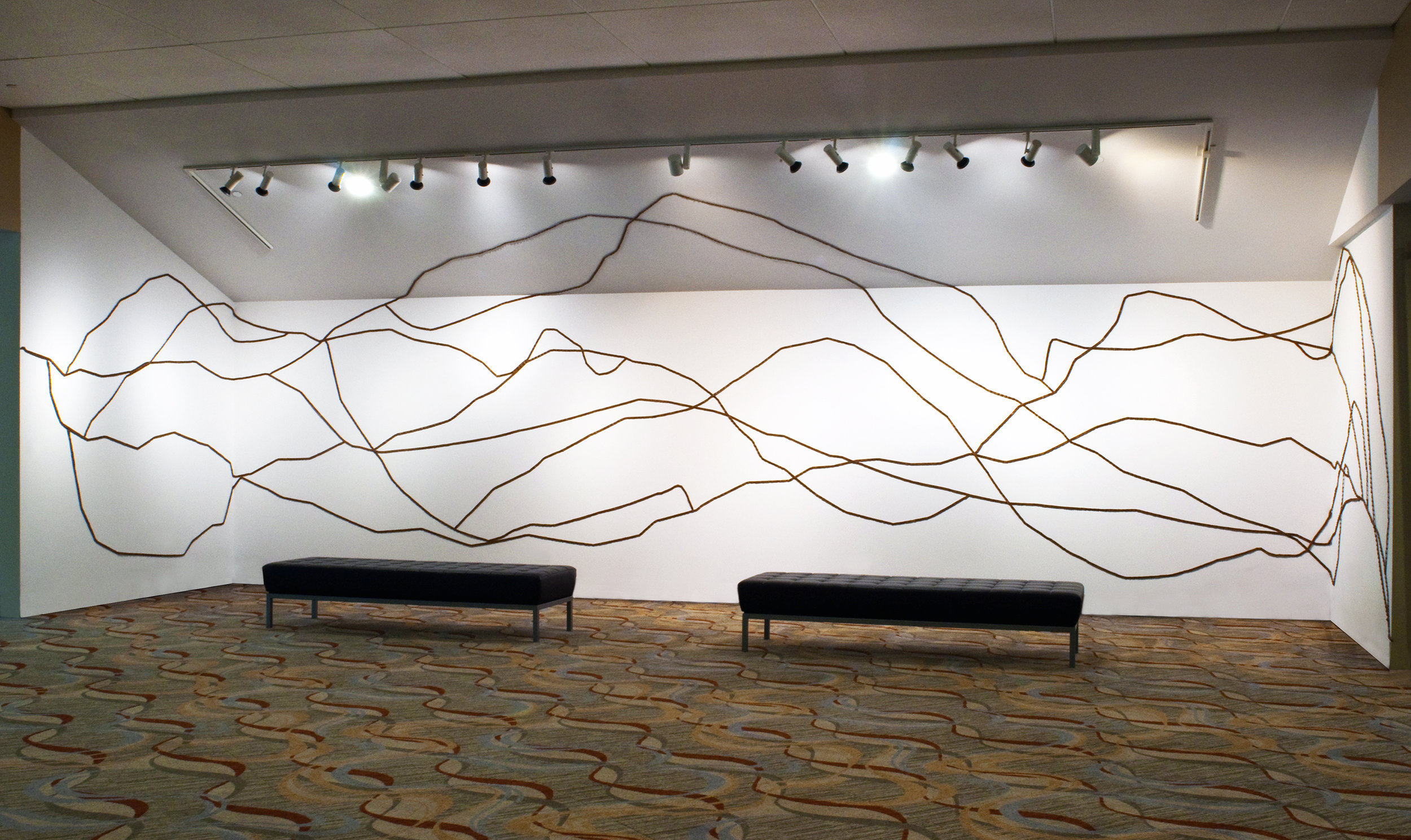 approximately 9 x 25 feet as installed at Lincoln Center in Fort Collins, Colorado
