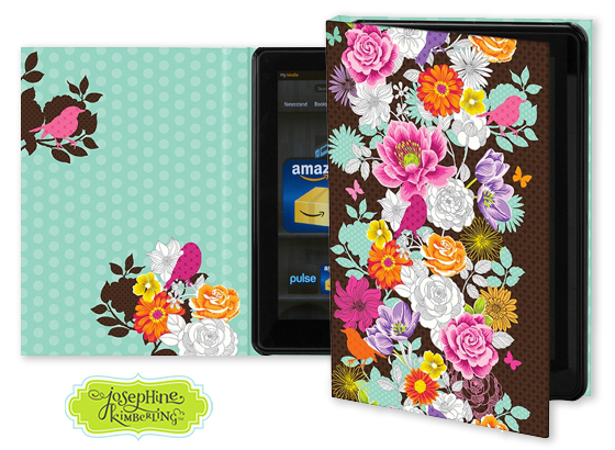 Josephine Kimberling's 'Birds and Blooms' Keka Case for tablet devices
