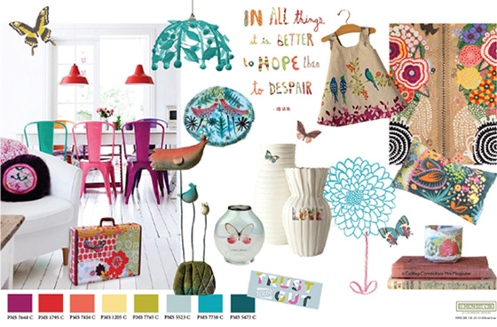 Boho Inspiration Trend Board from Lilla Rogers Global Talent Search, final Round by Midwest CBK