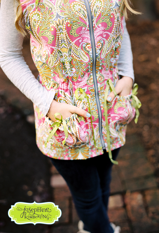 Anorak sewn from Josephine Kimberling's 'Caravan Dreams' fabric collection with Blend Fabrics