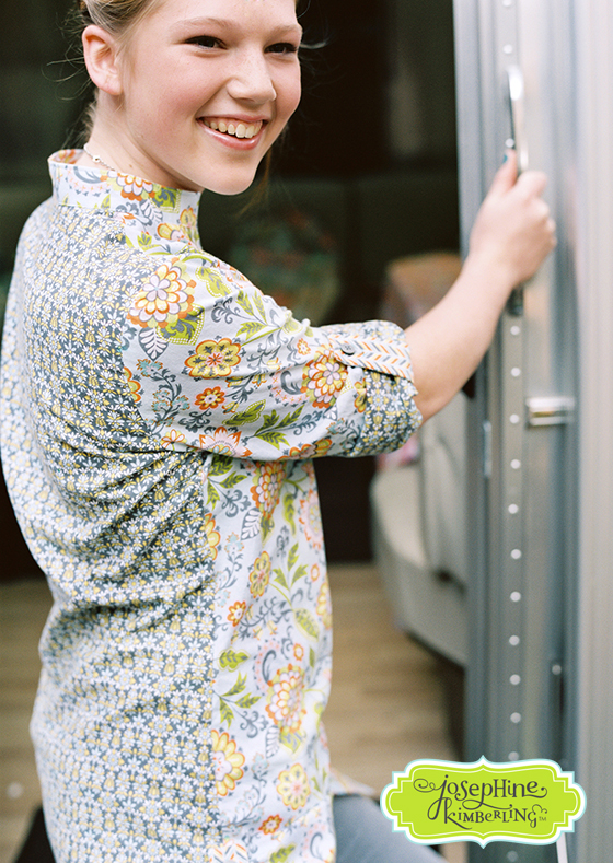 Tunic sewn from Josephine Kimberling's 'Caravan Dreams' fabric collection with Blend Fabrics