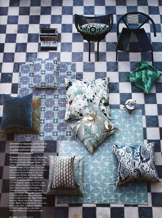 Blue from Home & Gardens Magazine Oct 2013