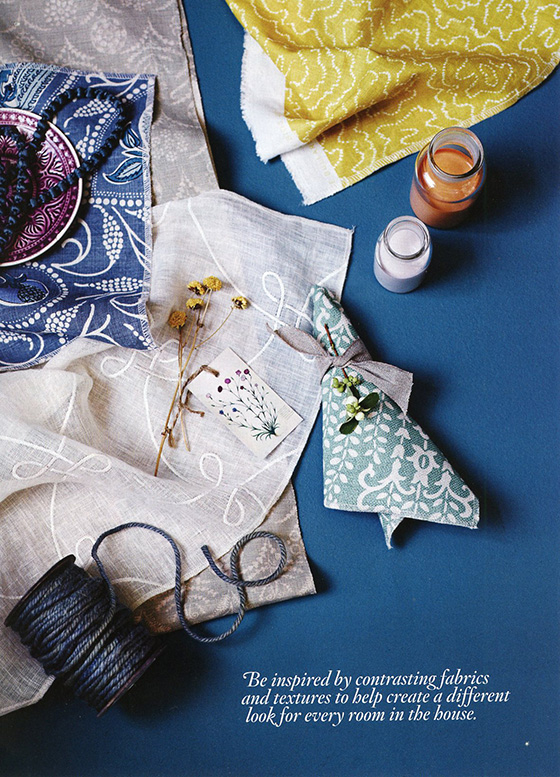 Blue inspiration from a magazine - resource unknown