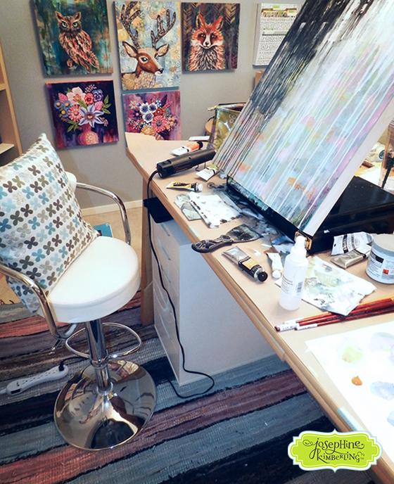 Josephine Kimberling's Studio - Painting in Progress