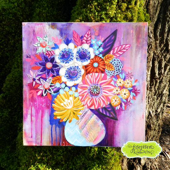 Flower painting by Josephine Kimberling