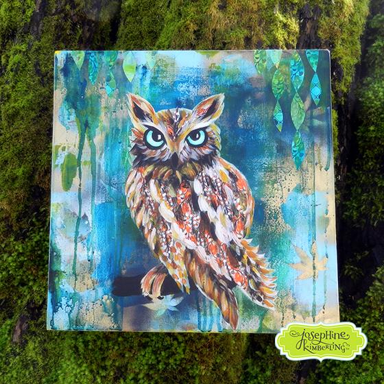 Owl painting by Josephine Kimberling