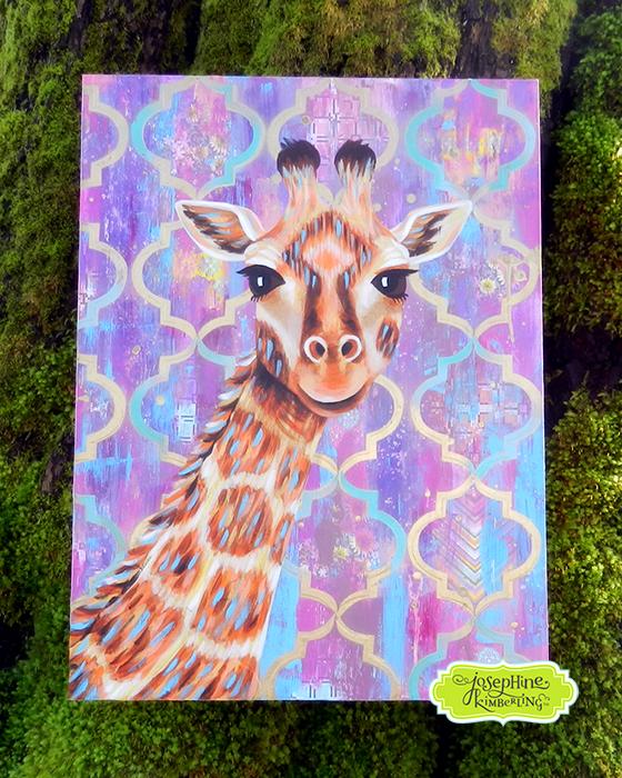 Giraffe painting by Josephine Kimberling