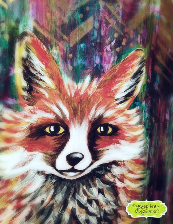 Fox painting by Josephine Kimberling