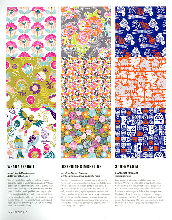 """UPPERCASE Magazine Issue 21, Including my art in the """"Surface Pattern Design Guide"""" @uppercasemag #patternplease"""