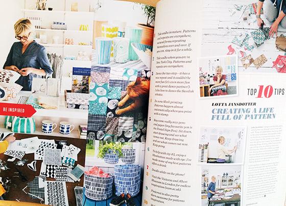 UPPERCASE Magazine Issue 21, including Lotta Jansdotter @uppercasemag #patternplease