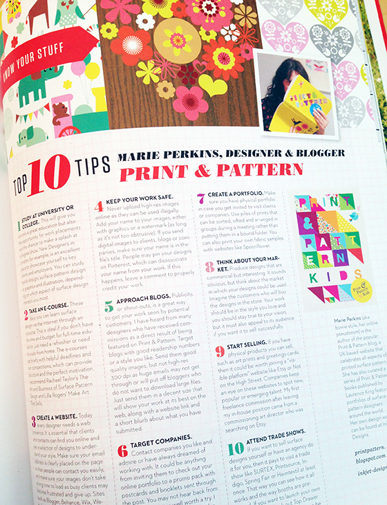 UPPERCASE Magazine Issue 21, including Marie Perkins of the Print & Pattern Blog @uppercasemag #patternplease