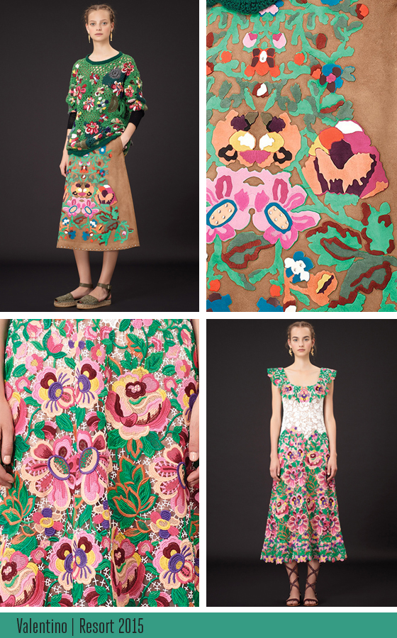 VALENTINO Resort 2015 collection wrapped up by Josephine Kimberling