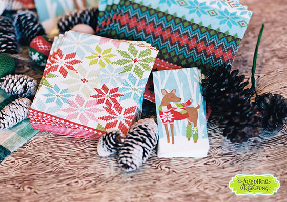 """Josephine Kimberling's """"Warm Wishes"""" Paper Tableware collection with Design Design!"""