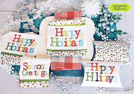 "Josephine Kimberling's ""Happy Holidays"" Paper Tableware collection with Design Design!"