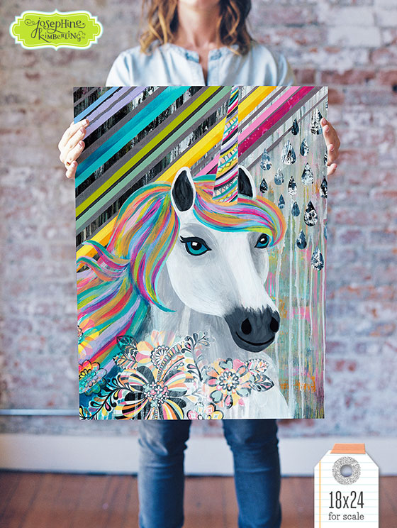 """GICLEE ART PRINTS BY JOSEPHINE KIMBERLING """"STELLA STOPS BY TO PROVE SHE EXISTS"""". Find in her Etsy Shop: JosephineKimberling"""