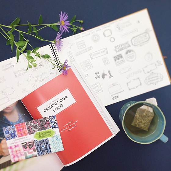 """Working through the book """"How To Style Your Brand"""" by Fiona Humberstone"""