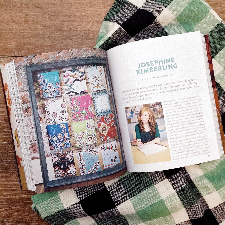 Josephine Kimberling featured in the Uppercase Compendium of Craft & Creativity