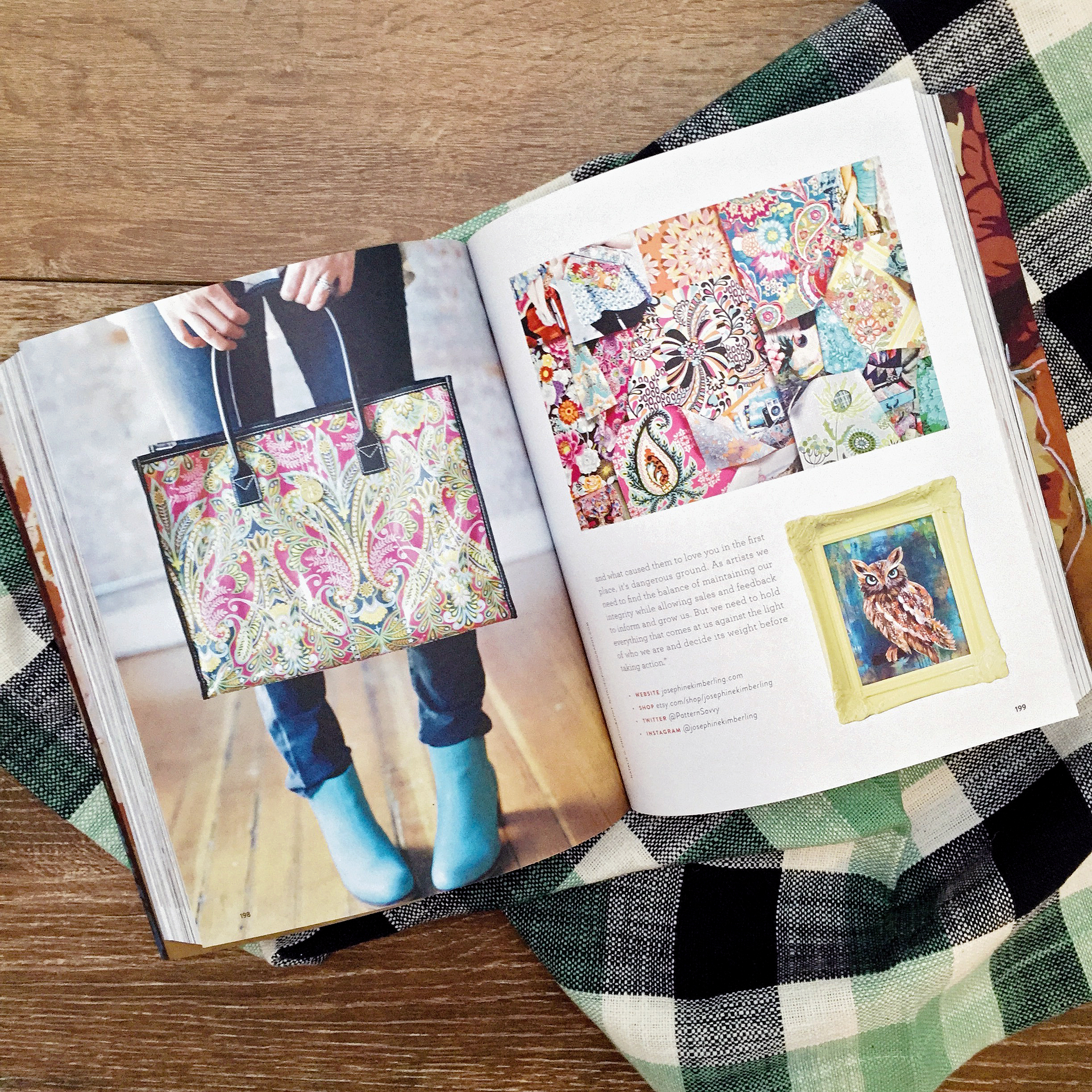 Josephine Kimberling featured in the UPPERCASE Compendium of Craft and Creativity