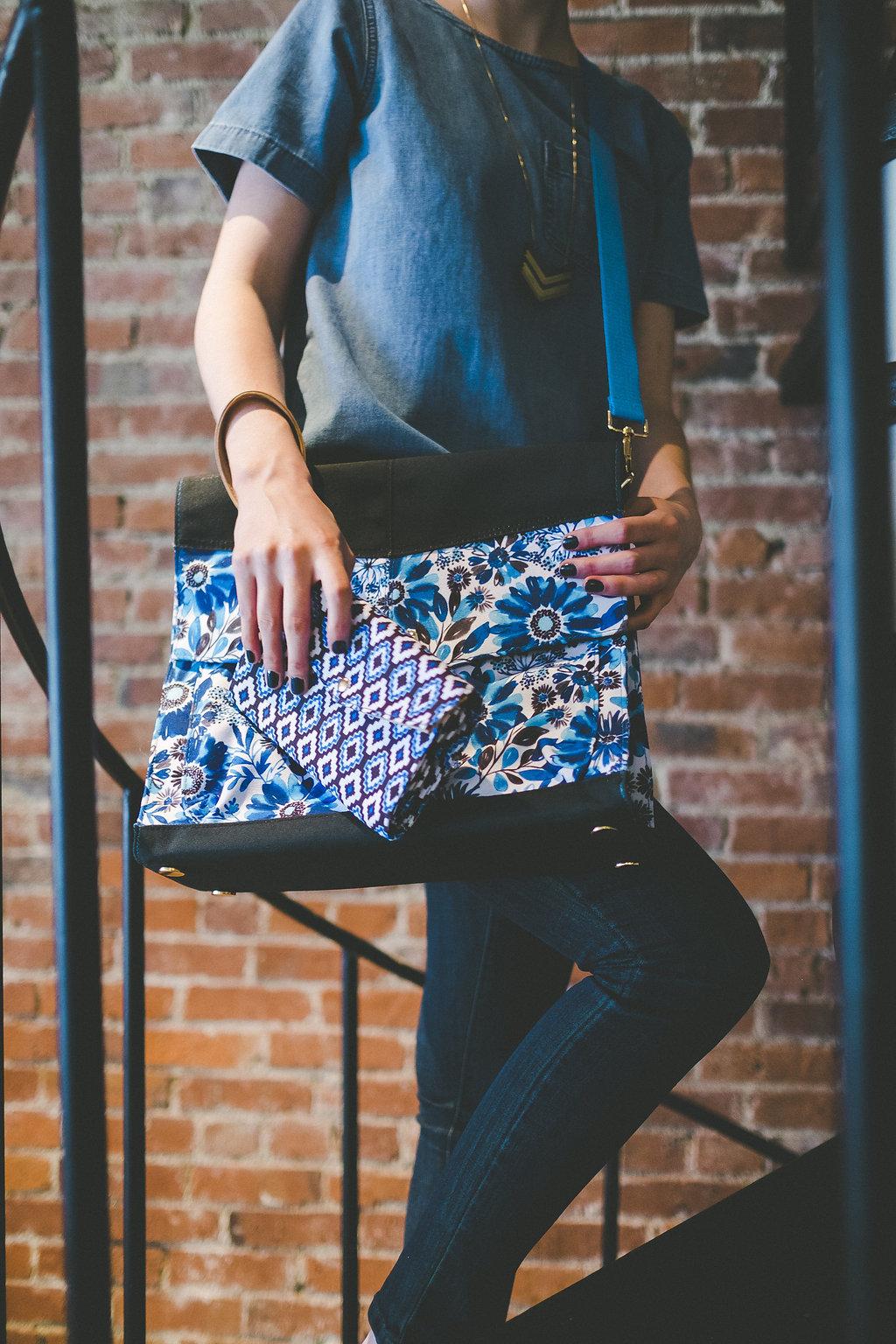 "Josie Triple Convertible bag & Julia Phone Wallet in my ""Nature Trail"" patterns"