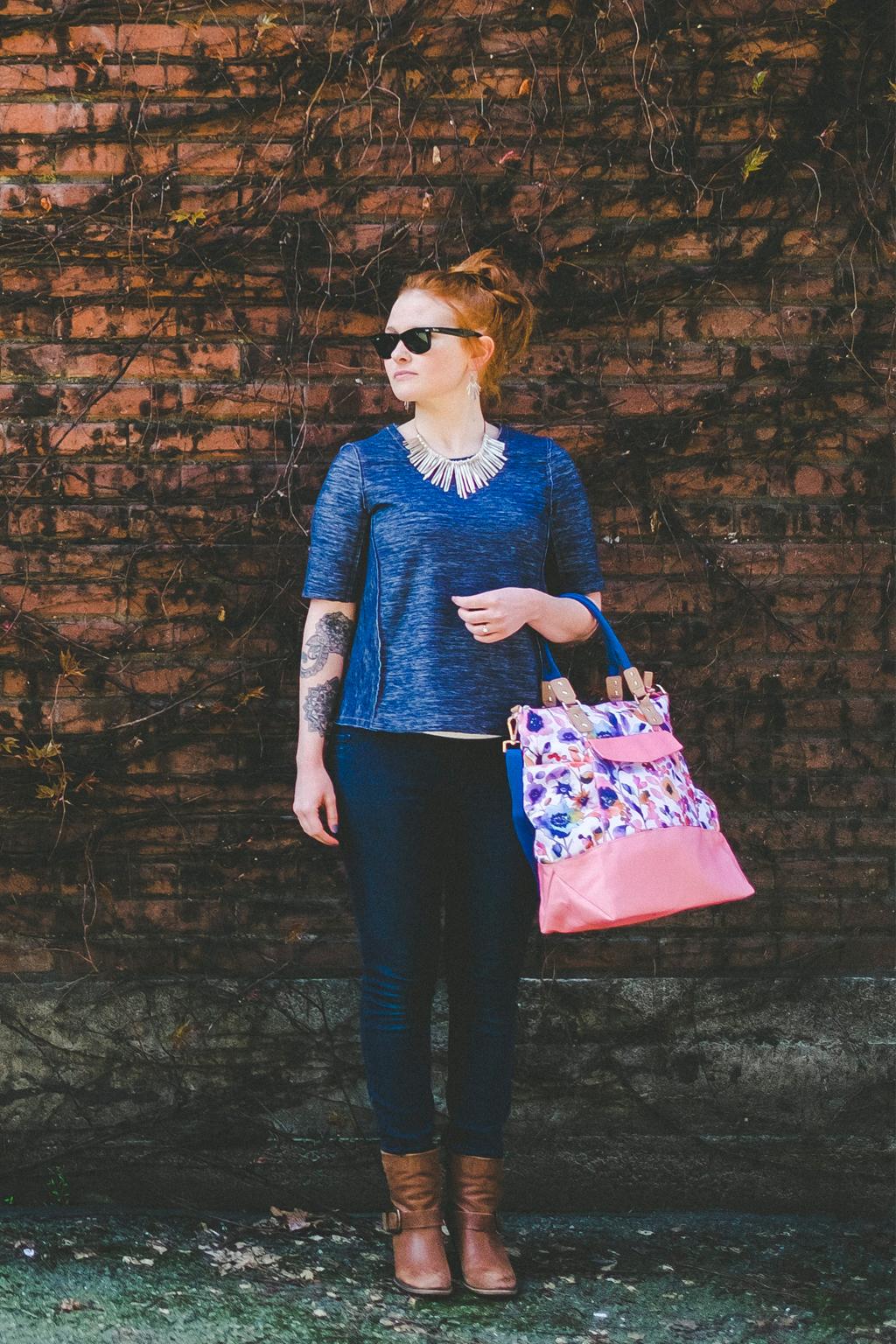 "Miranda Traveler in my ""Paintbox"" pattern"