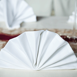 Poly Spun Napkins  - A staple item for all restaurant laundries, we offer the most popular aprons and napkins to satisfy all consumers of this category.
