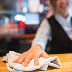 Bar Towels  -We understand the needs for commercial laundries and choices driving bar mop costs.We carry customer specific weight and stripe choices.