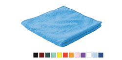 Microfiber Cloths     - 80% Polyester, 20% Polyamide. These microfiber cloths can be laundered up to 500 times, are lint-free, can be used wet or dry and are available in multiple colors.