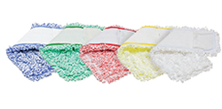 Microfiber Pocket Mops    -  feature microfiber 'fingers' to trap more dirt. Our pocket mops are more absorbent than competitor brands, feature an industrial strength canvas backing and matching hardware (sold separately).