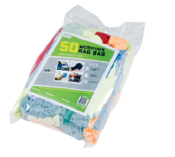 Retail Packed Microfiber Rag Bag   - These lint-free microfiber rags are highly absorbent and launderable.