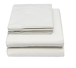 Institutional Sheets  - Our T180 sheets are 55/45 cotton/poly blend. This is a great value offering a soft feel while still giving a competitive price worth the quality.