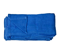 Blue Huck Towels   - 100% cotton 'Huck weave' towels feature a strong light construction. They are pre-washed and treated for absorbency.