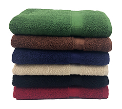 True Color To  wels   - Ideal for colleges, gyms, golf clubs, and hotels. These towels are soft, ring spun100% cotton, with a dobby border.