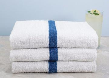 Blue Striped Pool Towel