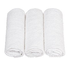 Basic Collection  - 10 single open end yarn with Kare Bleaching for an optically white appearance. This is the most basic of basic towels for federal institutional use.