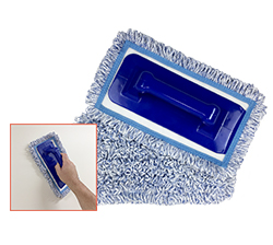"""Wall Washing Trowel  w/ Chisel Tip is ergonomically designed to lessen strain on the wrist and uses the same 10"""" pad as the pole."""