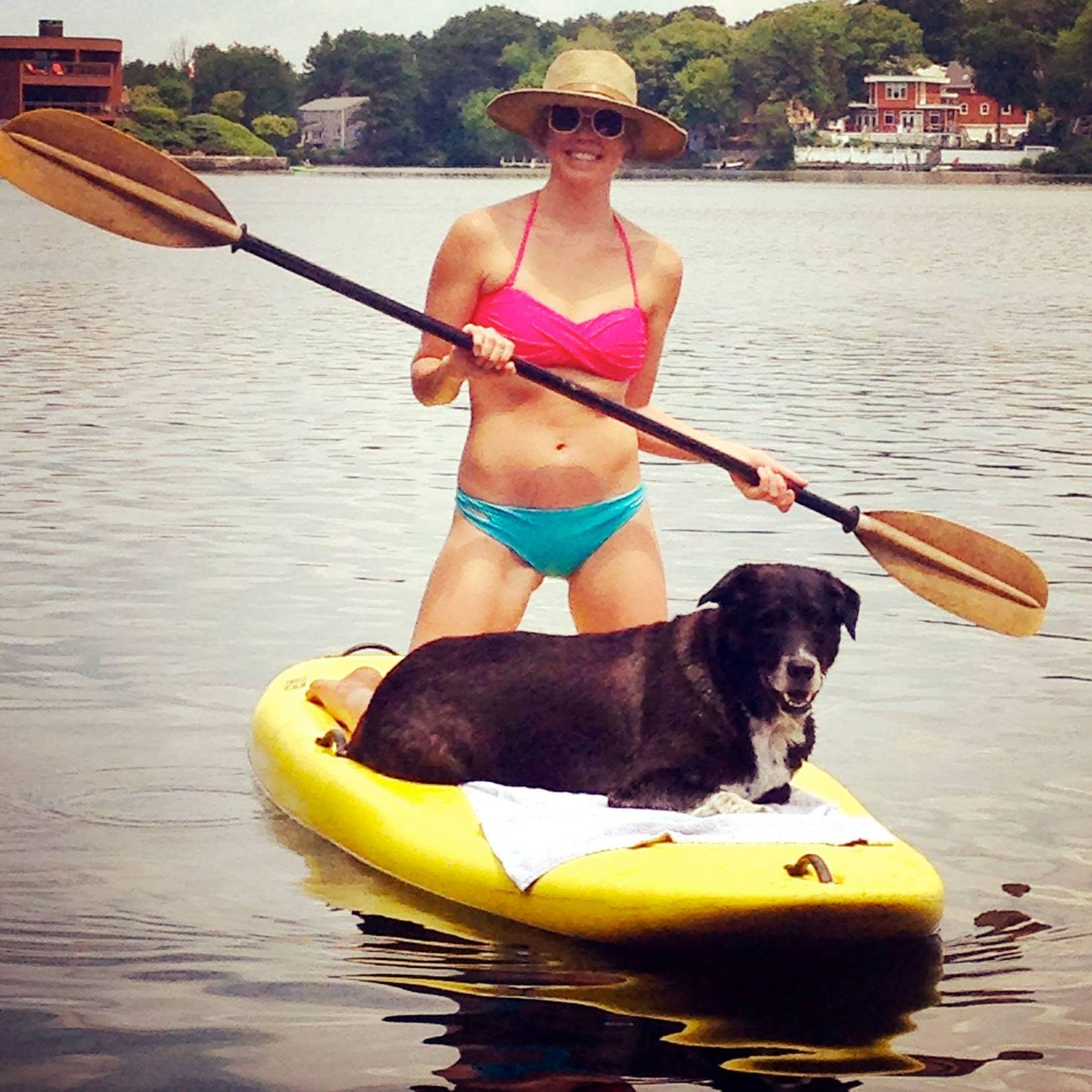 Paddleboarding with Jasper