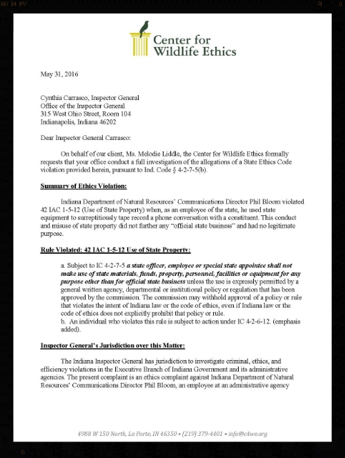 Download the full ethics complaint  here