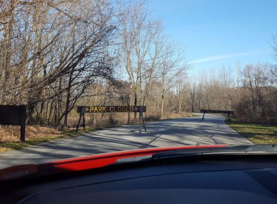 Signs at Potato Creek State Park, IN, November 27, 2017